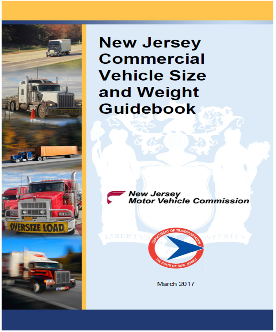 New Jersey Commercial Vehicle Size & Weight Guidebook